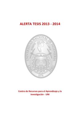alerta tesis 2013 - 2014 - Biblioteca Central