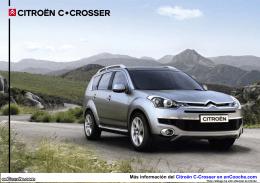 Catálogo del Citroën C-Crosser