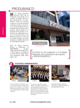 Produbanco.Edicion 235. noviembre 2013