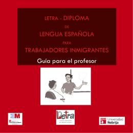 LETRA.Guía para el profesor - Español para inmigrantes y refugiados
