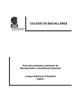 LAE I (Plan 1992) - Colegio de Bachilleres
