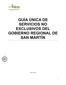GUÍA ÚNICA DE SERVICIOS NO EXCLUSIVOS DEL GOBIERNO