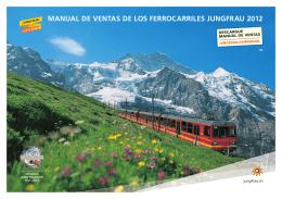manual de ventas de los ferrocarriles jungfrau 2012