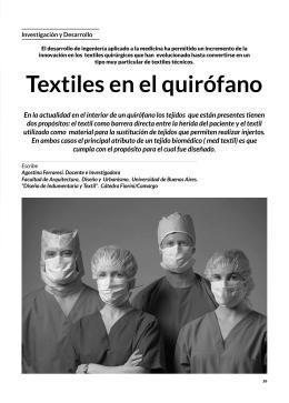 Investigación y Desarrollo: Textiles en el quirófano