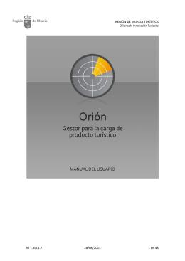 REGIÓN DE MURCIA TURÍSTICA M 1. Ed.1.7 28/08/2013 1