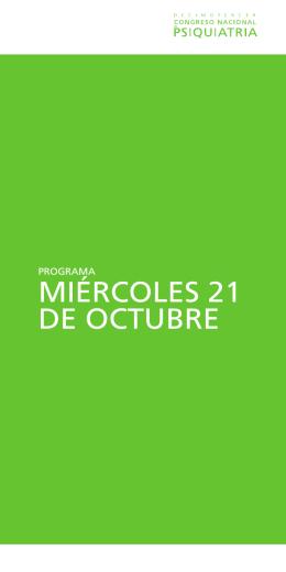 miércoles 21 de octubre - Fundación Española de Psiquiatría y