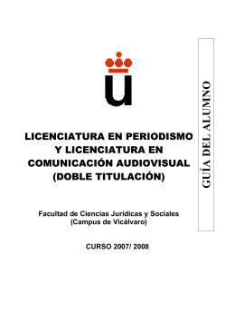 GUÍA DEL ALUMNO - FCJS - Universidad Rey Juan Carlos