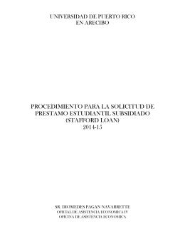 procedimiento para la solicitud de prestamo estudiantil subsidiado