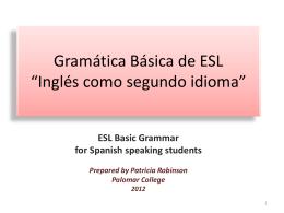 Gramatica Basica de Ingles como Segundo Idioma