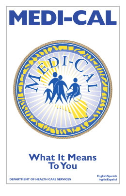 Medi-Cal What it Means to You - San Francisco Public Schools