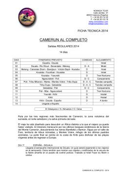 CAMERUN AL COMPLETO