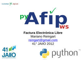 Factura Electrónica Libre Mariano Reingart reingart