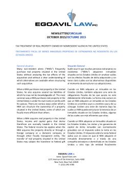 NEWSLETTER/CIRCULAR OCTOBER 2015 - egoavil-law