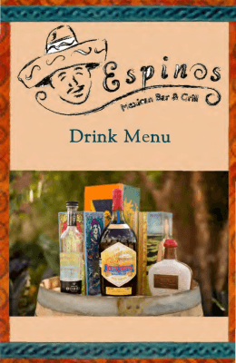 Drink Menu - Espino`s Mexican Bar & Grill