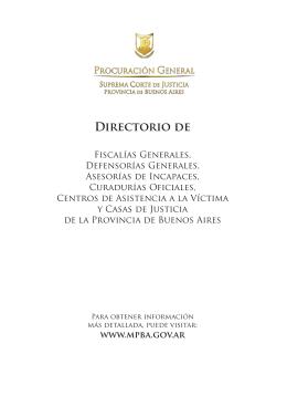 Fiscalías Generales de la Provincia de Buenos Aires