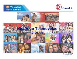 Histórico Telenovelas 19:00 hrs.