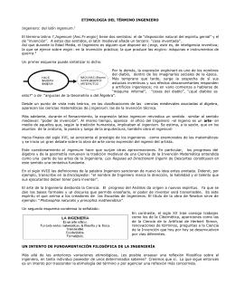 etimologia del termino ingeniero - Ing. Julian Darío Giraldo Ocampo
