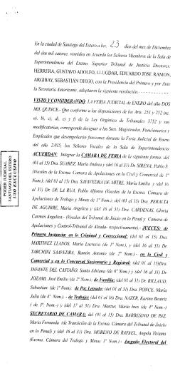 Leer Acordada - Poder Judicial | Santiago del Estero