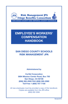 EMPLOYEE`S WORKERS` COMPENSATION HANDBOOK D
