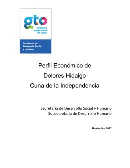 Perfil Económico de Dolores Hidalgo Cuna de la Independencia