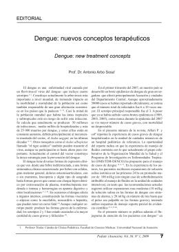 Dengue: nuevos conceptos terapéuticos