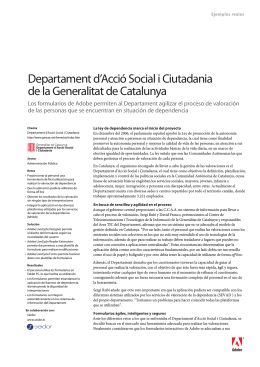 Departament d`Acció Social i Ciutadania de la Generalitat