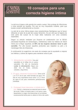 Descárgate el Decálogo para el cuidado de la piel