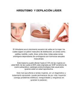 hirsutismo y depilacion laser