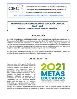 ficha 1 - 24 Congreso Interamericano de Educación Católica