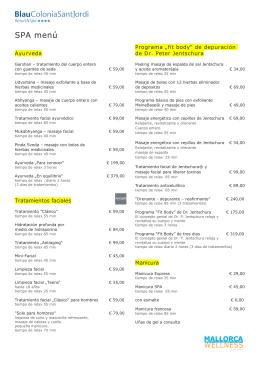 Lista de Precios Spa Blau Colonia Sant Jordi_ES