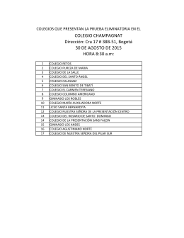 COLEGIO CHAMPAGNAT Dirección: Cra 17 # 38B