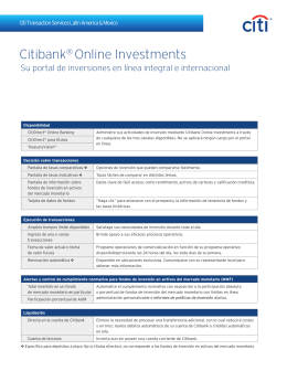 CitiBank Online Investment 2