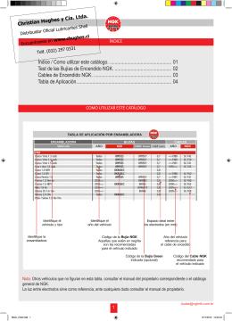 Catálogo bujías NGK 2014 Descargar