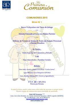 MENUS COMUNIONES 2015