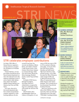 STRI celebrates employee contributions
