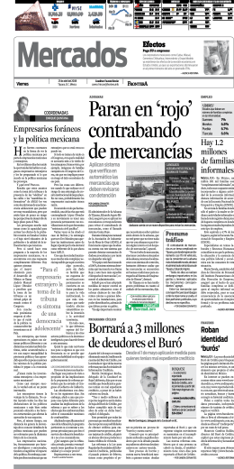 Borrará a 3 millones de deudores el Buró