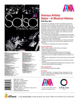 Various Artists: Salsa – A Musical History