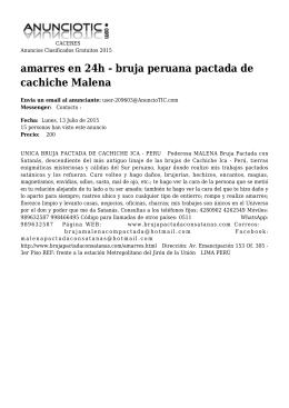 amarres en 24h - bruja peruana pactada de cachiche Malena