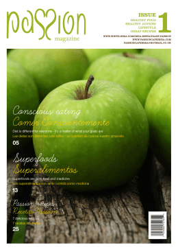 Superfoods Superalimentos Conscious eating