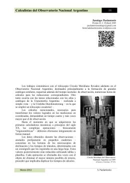 Calculistas del Observatorio Nacional Argentino