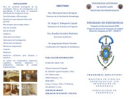 posgrado de endodoncia - Universidad Autónoma de Nuevo León