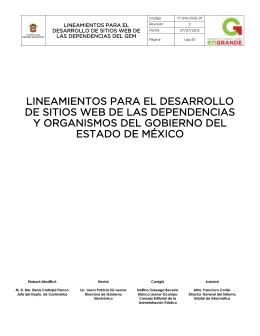 Lineamientos web - Gobierno del Estado de México
