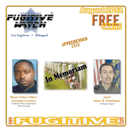 August 2012 - Fugitive Watch