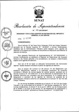 R. Superintendencia Nº 228-2012