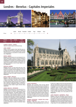 Londres - Benelux - Capitales Imperiales