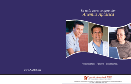 Anemia Aplásica - Aplastic Anemia & MDS International Foundation