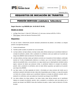 REQUISITOS DE INICIACIÓN DE TRÁMITES