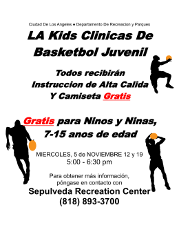 LA Kids Clinicas De Basketbol Juvenil