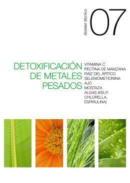 DETOXIFICACIÓN DE METALES PESADOS