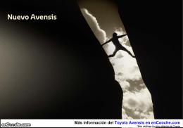 Catálogo del Toyota Avensis